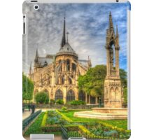 Notre Dame with Garden & Fountain iPad Case/Skin