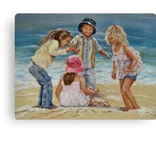 Beach Dancing Canvas Print