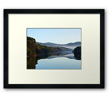 Cold and foggy morning  Framed Print