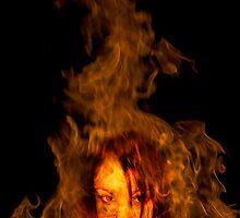 Kristy In Flames by Nigel Donald