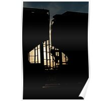 Train Cars Silhouette  Poster