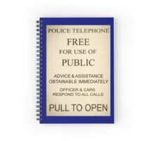Police Box Sign Spiral Notebook