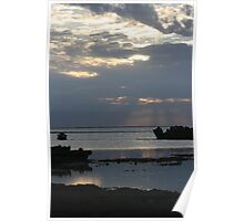 Twilight Blue-Pilbara coast, WA Poster