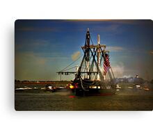 Independence Day Celebration with USS Constitution  Canvas Print