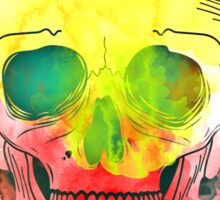 Water Color Skull Sticker