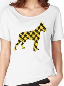 Black and Yellow Bulldog Dog Breed Animal Pets Pattern 1 Women's Relaxed Fit T-Shirt