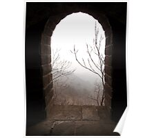 Looking through a port hole on The Great Wall of China Poster
