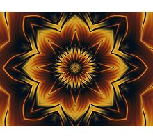 A Snowflake In Autumn 4 Fractal Photographic Print