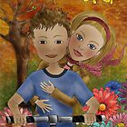 Take her for a ride on my bike by Kristy Spring-Brown