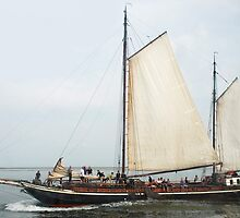 Sailing on the Waddenzee - the Netherlands by Arie Koene