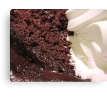 In Deep (With Chocolate) Canvas Print