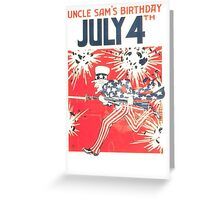 4th of July - Uncle Sam Greeting Card