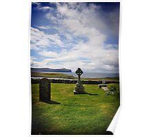 Eery Trumpan churchyard, Skye Poster