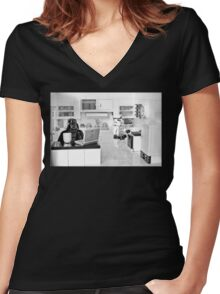 J.R. Died Women's Fitted V-Neck T-Shirt