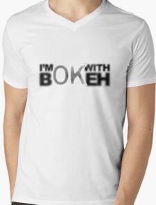 I'm ok with Bokeh! Mens V-Neck T-Shirt