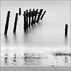 Collapsing sea defence, Happisburgh, Norfolk by DaveTurner
