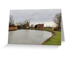 Hunsett Drainage Mill  Greeting Card
