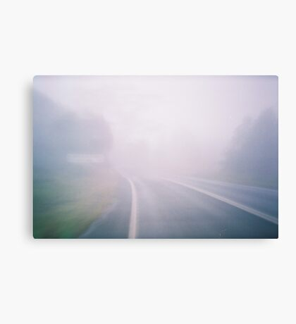 Misty Mountaintop. Canvas Print