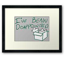 Benn Disappointed Framed Print