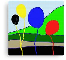 Balloons, primary colors Canvas Print