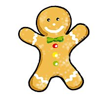 Cute Christmas gingerbread man cookie Photographic Print