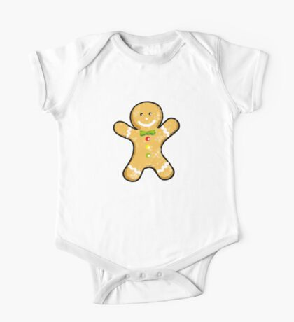 Cute Christmas gingerbread man cookie One Piece - Short Sleeve