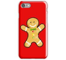 Cute Christmas gingerbread man cookie iPhone Case/Skin