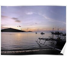 Tranquil Pemuteran bay at Sunset Poster