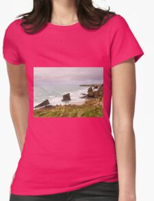 Bedruthan Steps  in Cornwall Womens Fitted T-Shirt