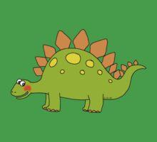 Funny cartoon stegosaurus dinosaur Baby Tee