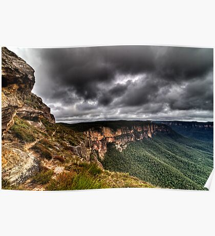 Grose Valley The Blue Mountains Australia HDR Poster