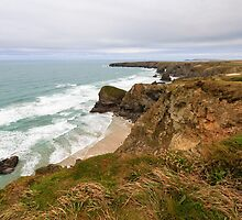 Bedruthan Steps  in Cornwall by chris2766