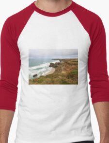 Bedruthan Steps  in Cornwall Men's Baseball ¾ T-Shirt