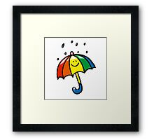 Rainny day umbrella Framed Print