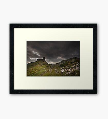 Brentor Church Dartmoor Devon Uk Framed Print