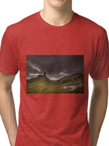 Brentor Church Dartmoor Devon Uk Tri-blend T-Shirt