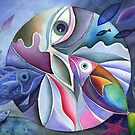 Aquatic Mandala by Karin Zeller