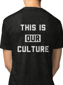 """Fall Out Boy Inspired """"This Is Our Culture"""" Tri-blend T-Shirt"""