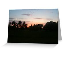 Red Horizon Greeting Card
