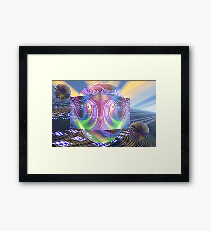 Space lab Framed Print