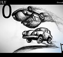July 10 - Overtaking Lane by 365 Notepads -  School of Faces
