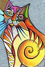 Abstract Cat by Karin Zeller