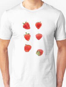 Strawberries Falling Unisex T-Shirt