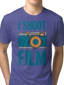 I Shoot Film - Vintage Camera Design Tri-blend T-Shirt