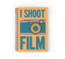 I Shoot Film - Vintage Camera Design Spiral Notebook