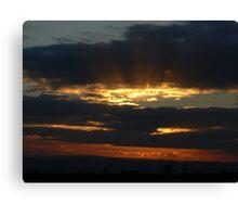Cleland Sunset Canvas Print