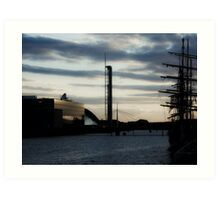 Tall ship on the clyde Art Print
