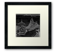 Birdcage and Boots Framed Print