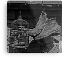 Birdcage and Boots Metal Print