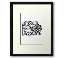 Woman Face Framed Print